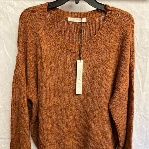 Mustard Seed Rust Sweater Size Large